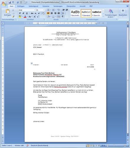 Briefe Schreiben Mit Word Din Briefvorlage Für Word Download