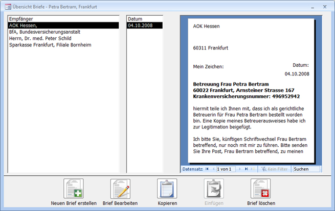 Bt Professional Betreuungssoftware Briefe